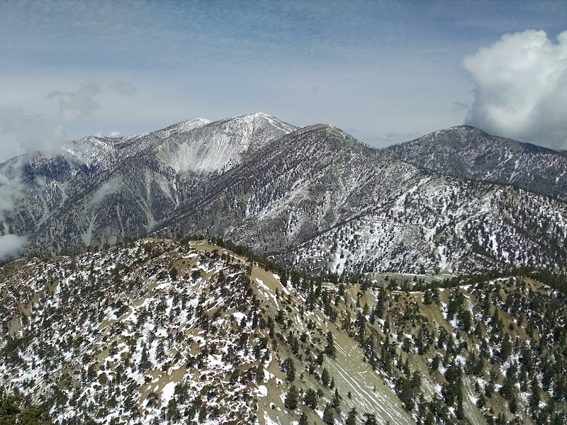 Thunder Mountain, Telegraph Peak, and Timber Mountain • View of Mount Baldy