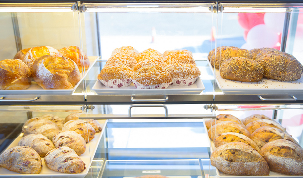photo of pastries in a display