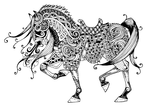Coloring Page Majestic Horse Free To Print
