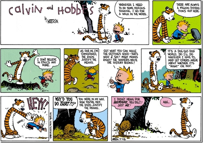 calvin hobbes ends justify means