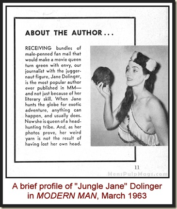 MODERN MAN - 1963 03 March - Jungle Jane Dolinger story
