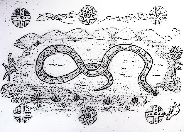Dibujo de la Serpiente sabanera