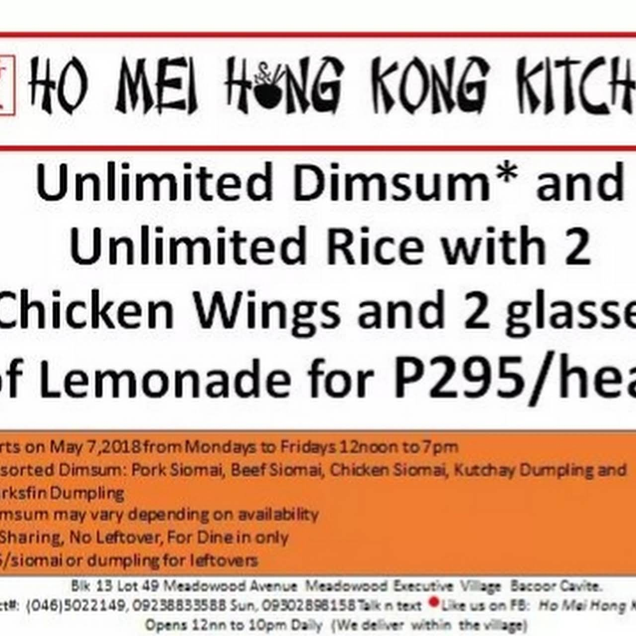 Ho Mei Hong Kong Kitchen - Chinese restaurant in Bacoor City