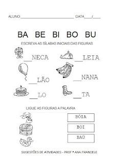 05 Atividades com a Letra B educaçao para crianças imprimir