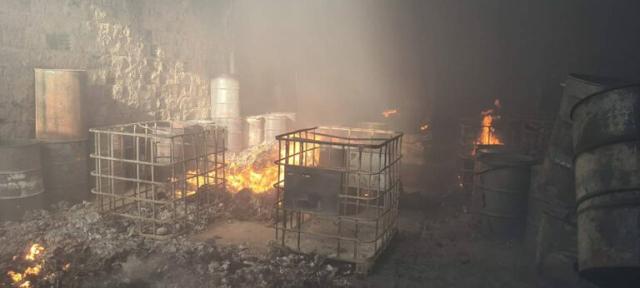 Incendio na manhâ deste domingo em galpão no bairro Flamengo em Barreiras