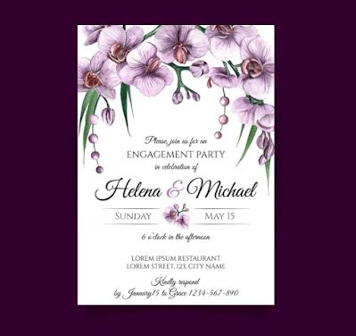 Membuat Undangan Pernikahan Bertema Tulip Background  | Kaina Studios