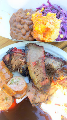 BBQ Plate from the Aaron Franklin Stumptown Coffee Cookout