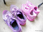 Mike and I's sneakers, post-Color Run!!