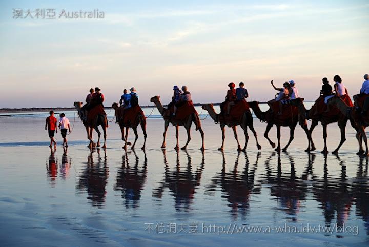 澳洲 澳大利亞 Broome 布魯姆的電纜海灘夕陽