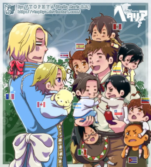 hetalia spain and his colonies