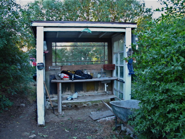 Building a stone garden shed outdoor shed ideas for Stone garden shed designs