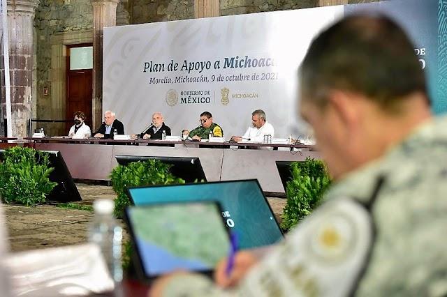 PRESENTAN PLAN DE APOYO PARA EL ESTADO DE  MICHOACÁN.