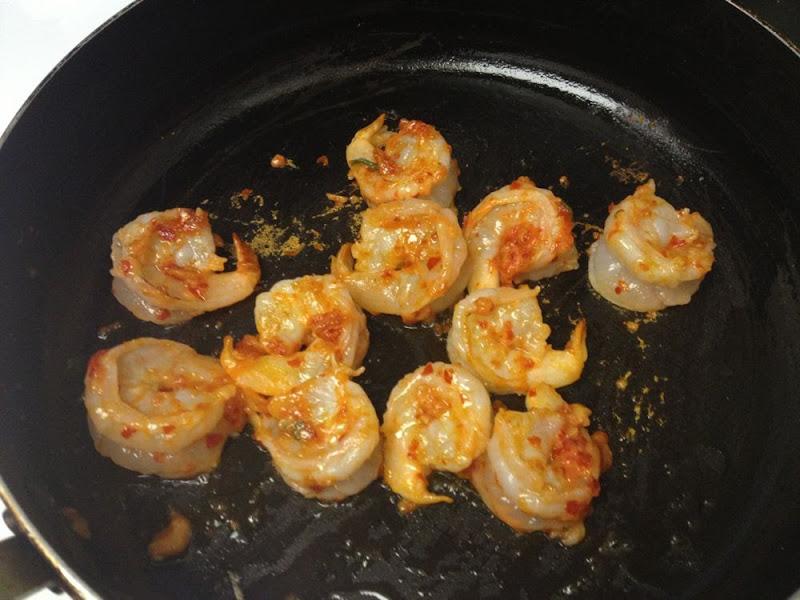 Fry shrimp