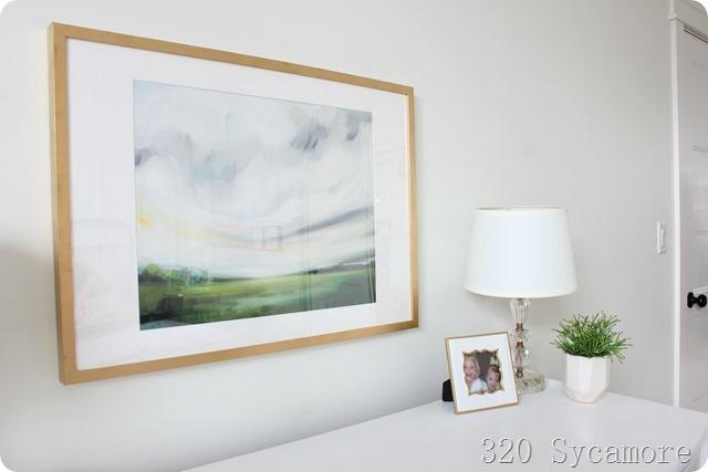 dresser top decor gold white