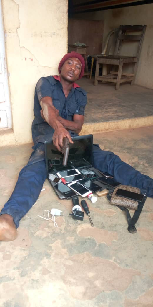 [News] Armed Robber Operating In Civil Defense Uniform Arrested In Ogun (Photo)