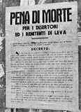 Manifesto fascista - pena di morte ai disertori