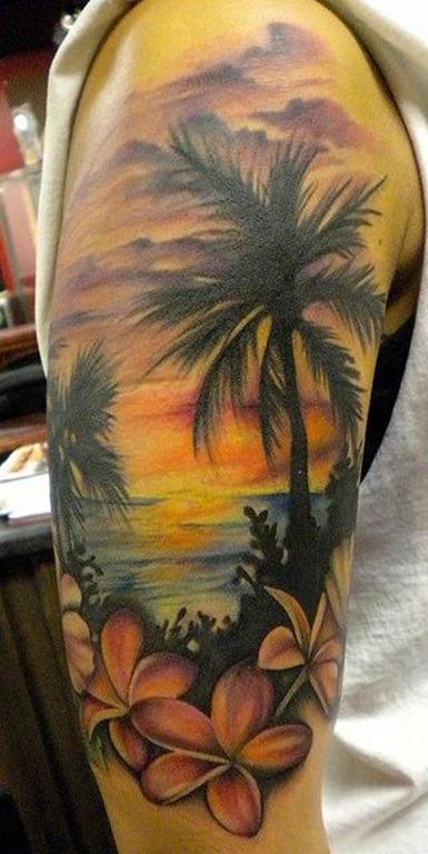 cena_de_praia_braço_de_tatuagem