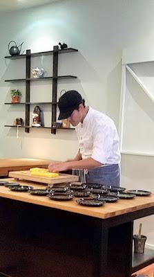 Ryan slicing up the Tamago