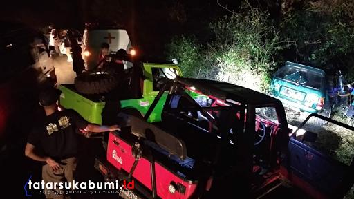 Mobil Masuk Jurang di Jampang Kulon, Pengemudi Tewas