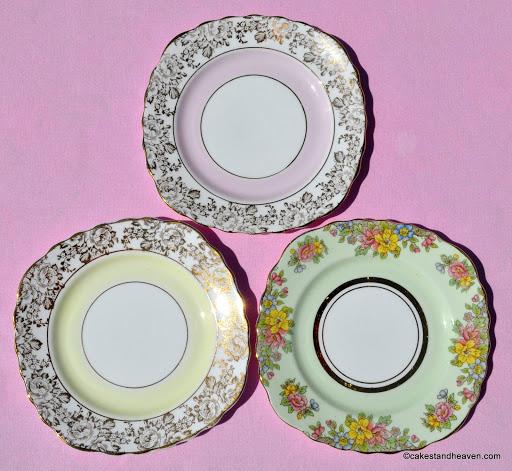 15.5 x 15.5cm wide vintage tea plates