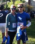 Post-race with our shirts.