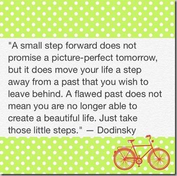 a small step forward