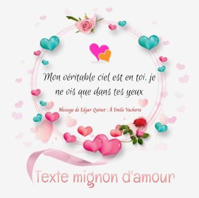 Texte d'amour touchant
