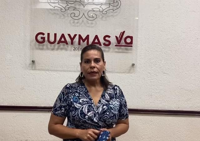 """Alcaldesa de Guaymas, Sara Valle dice """"No vengan a Guaymas, las playas estarán cerradas estos días por semáforo rojo"""""""