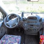 Het dashboard van de Mercedes van Krol Reizen
