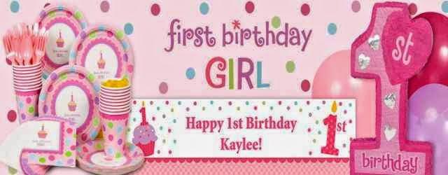 Festejos del primer añito de cumpleaños para una niña