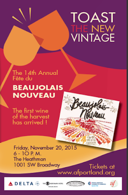 This year their will be the 14th year of the West Coast's largest Beaujolais Nouveau festival at the Heathman