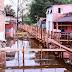Construção de pontes no São Jorge por conta da cheia é concluída em Manaus