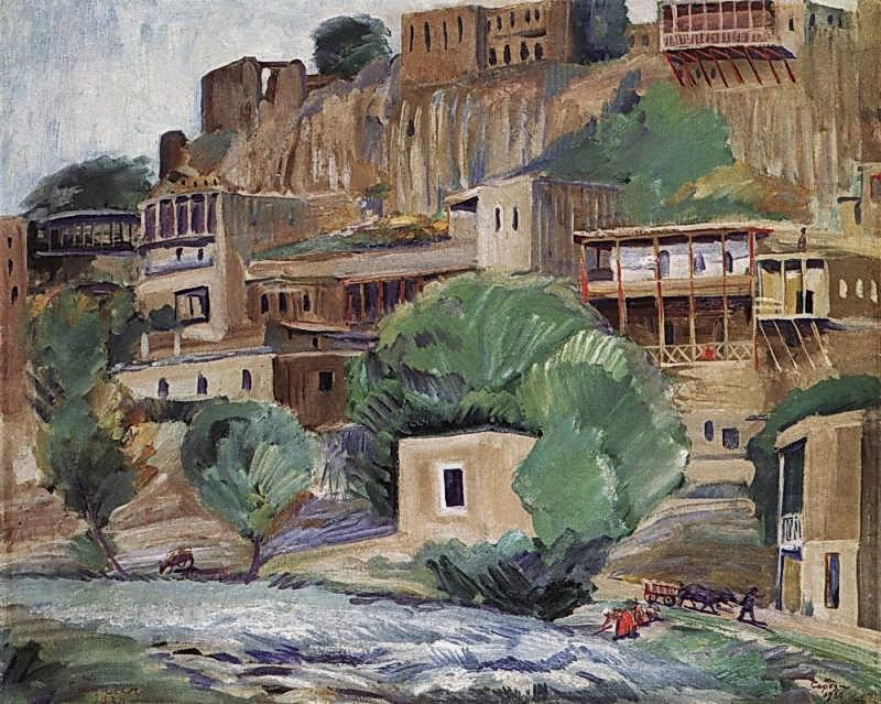 Martiros Saryan - Banks of the river Zangu near Yerevan, 1930