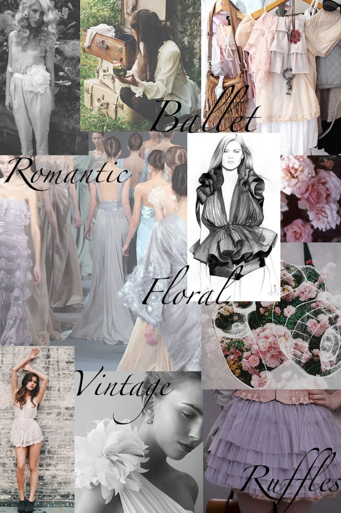My mood board: The theme is inspired by Ballet