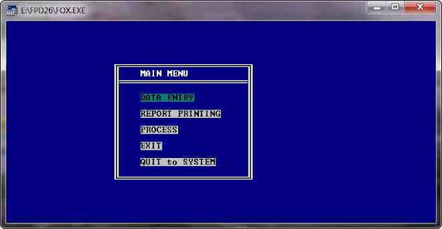 Creating menu in Foxpro for DOS | Live to Learn!
