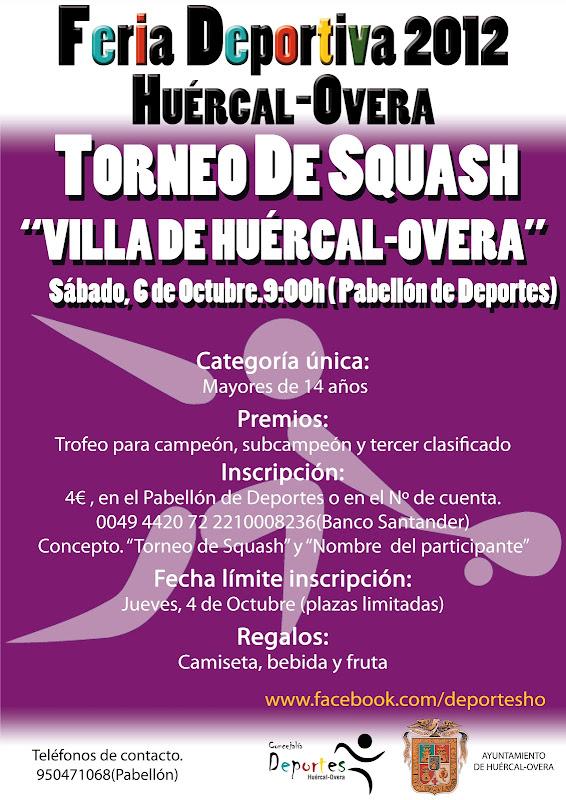 Cartel Torneo Feria de Lorca 2012 - Huercal-Overa