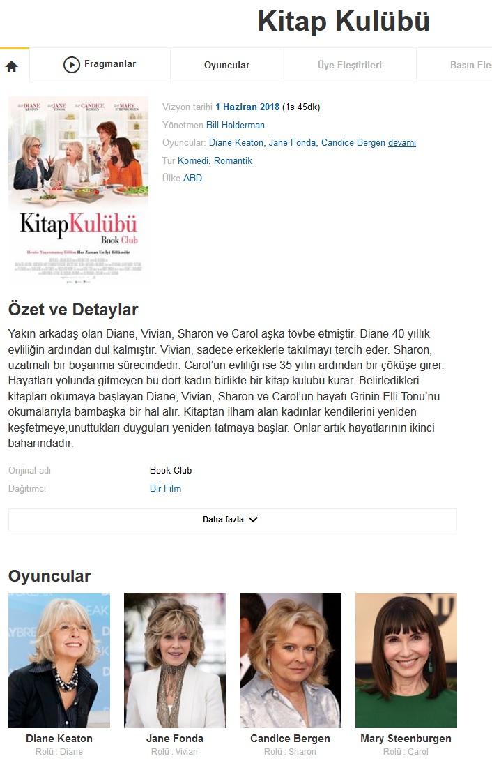 Kitap Kulübü 2018 - 1080p 720p 480p - Türkçe Dublaj Tek Link indir