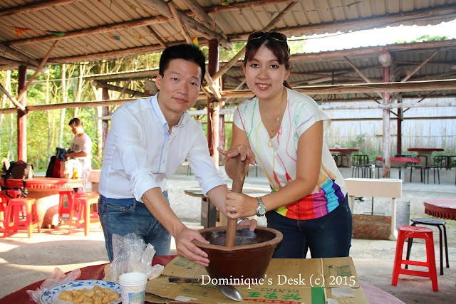 R and me at a Tea Making Workshop