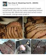 Resipi Daging Panggang Lembut, Moist & Cair Di Mulut