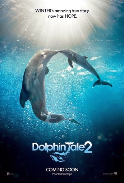 Poster Of English Movie Dolphin Tale 2 (2014) Free Download Full New Hollywood Movie Watch Online At Alldownloads4u.Com