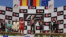 Podium 2011 European F1 GP: 1. Vettel 2. Alonso 3. Webber