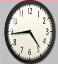 test snip of clock