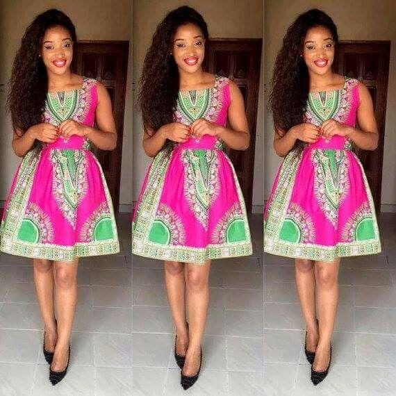 Trendy African Print dress ankara 2015