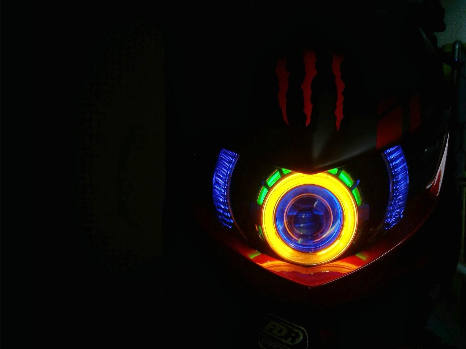 Soul Gt Modifikasi Lampu Depan