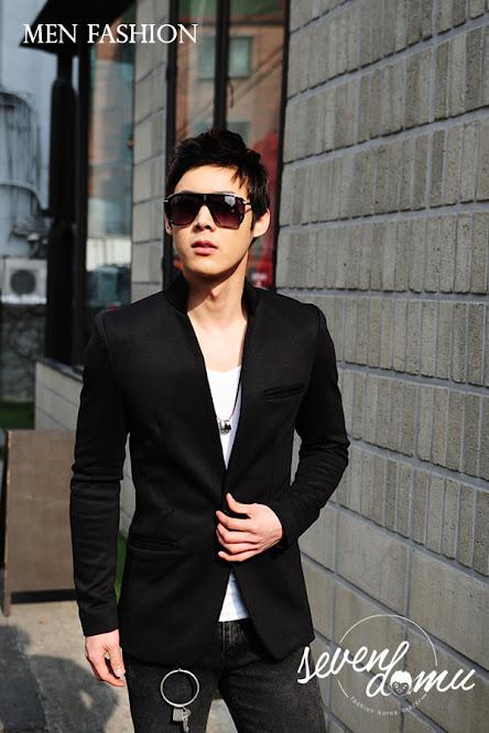 seven domu blazer+korea+black+style+bk02 2