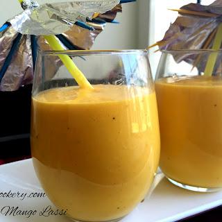 Quick Mango Lassi.