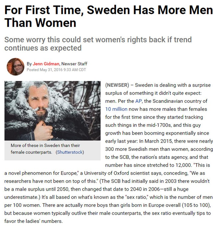 sweden more men
