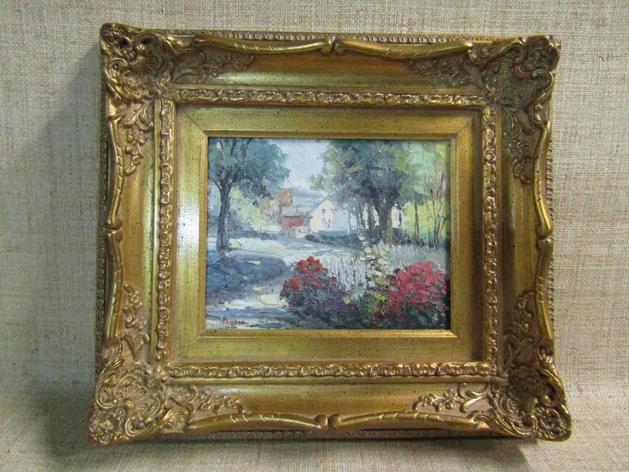 Signed Countryside Painting by Thomas