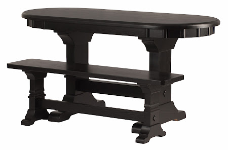 "60"" x 28"" Tuscany Dining Table and Bench in Midnight Oak"