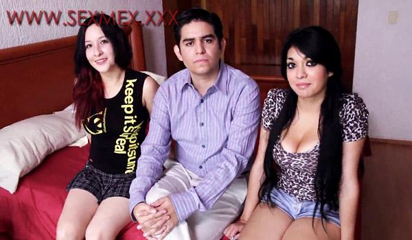 Sexmex - Liza y Andrea se la chupan a Charly